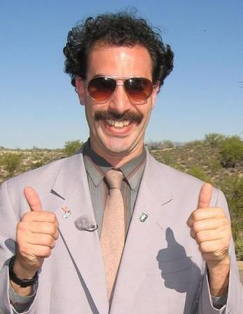 Borat says yes!